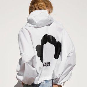 Zara white Star Wars raincoat